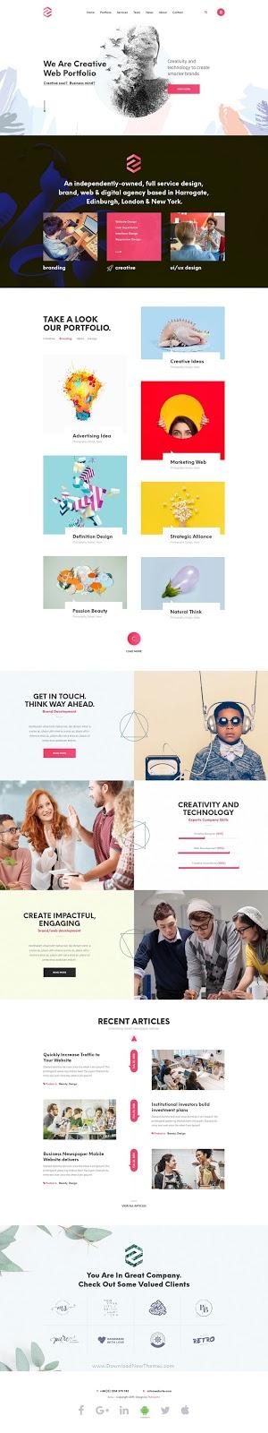 Creative Startup Digital Agency, Portfolio PSD Template
