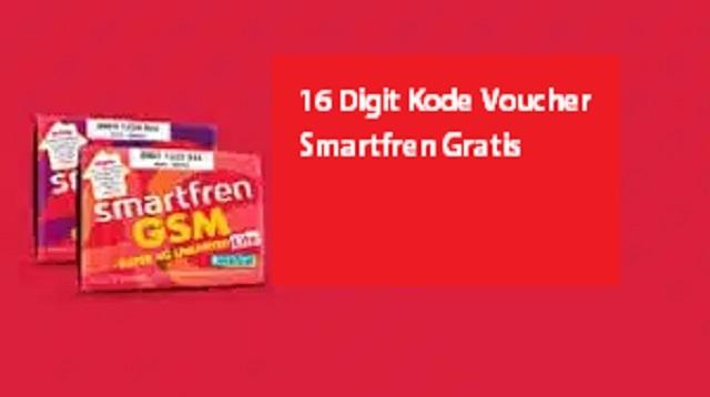 16 Digit Kode Voucher Smartfren Gratis