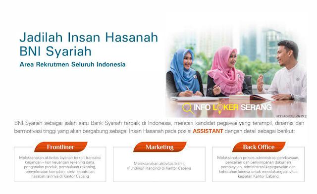 Lowongan Kerja Assistant Development (ADP) Bank BNI Syariah Cilegon & Seluruh Indonesia