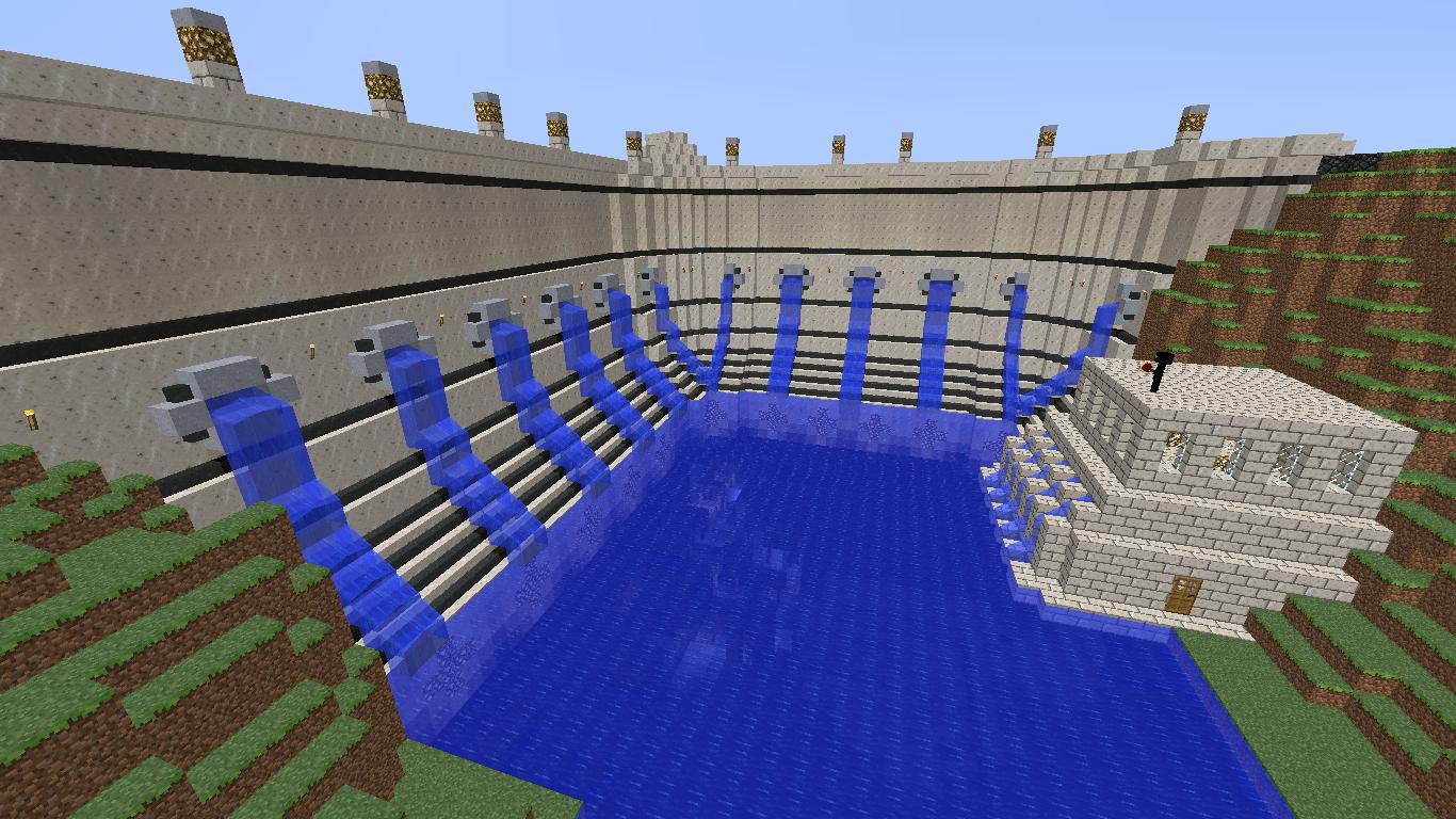 Minecraft Building Ideas: Dam