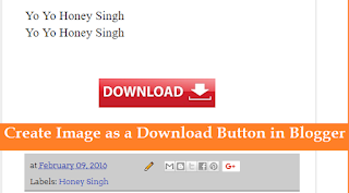 Create Image as a Download Button in Blogger with Pictures