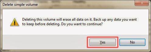 Cách gộp ổ trong Windows 7