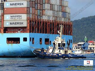 Maersk Londrina e Svitzer Jamil Darian