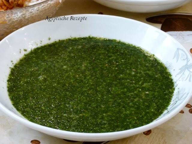 Ägyptisches Rezept für Molokhia Molokheya