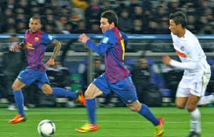 Fc Barcelona forward Lionel Messi in action