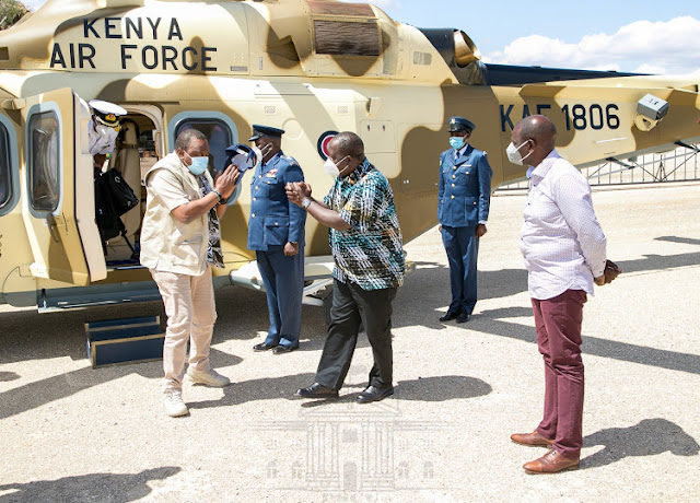 President uhuru Kenyatta at Manyani retreat. PHOTO | PSCU
