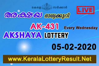 Kerala-Lottery-Result-05-02-2020-Akshaya-AK-431,  kerala lottery, kerala lottery result, yesterday lottery results, lotteries results, keralalotteries, kerala lottery, keralalotteryresult, kerala lottery result live, kerala lottery today, kerala lottery result today, kerala lottery results today, today kerala lottery result, Akshaya lottery results, kerala lottery result today Akshaya, Akshaya lottery result, kerala lottery result Akshaya today, kerala lottery Akshaya today result, Akshaya kerala lottery result, live Akshaya lottery AK-431, kerala lottery result 05.02.2020 Akshaya AK 431 05 January2020 result, 05.02.2020, kerala lottery result 05.02.2020, Akshaya lottery AK 431 results 05.02.2020, 05.02.2020 kerala lottery today result Akshaya, 05.02.2020 Akshaya lottery AK-431, Akshaya 05.02.2020, 05.02.2020 lottery results, kerala lottery result January05 2020, kerala lottery results 05th January2020, 05.02.2020 week AK-431 lottery result, 05.02.2020 Akshaya AK-431 Lottery Result, 05.02.2020 kerala lottery results, 05.02.2020 kerala state lottery result, 05.02.2020 AK-431, Kerala Akshaya Lottery Result 05.02.2020, KeralaLotteryResult.net