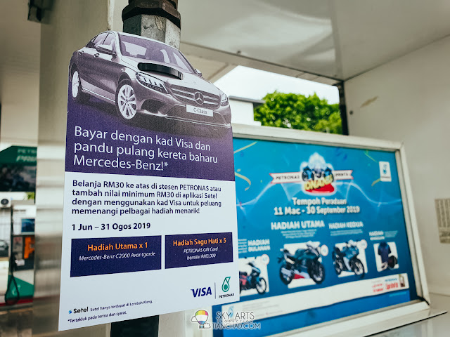 Pump Petrol & SETEL Using Smartphone, get RM5-RM7 Cash Rebate Instantly & Win Mercedes-Benz
