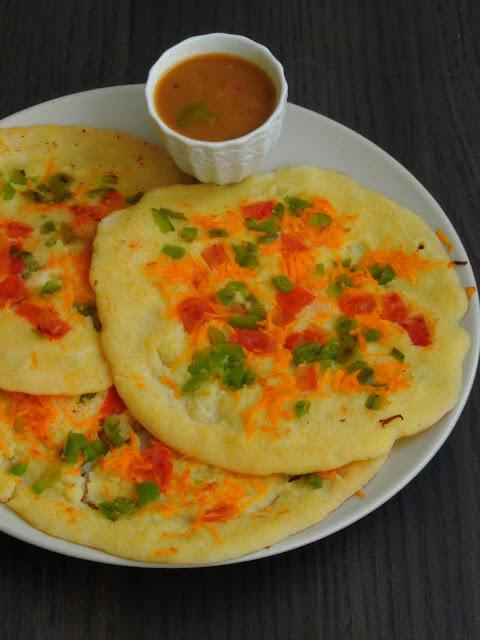 Instant Cornmeal Rava Uthappam