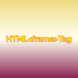 HTML <frame> tag