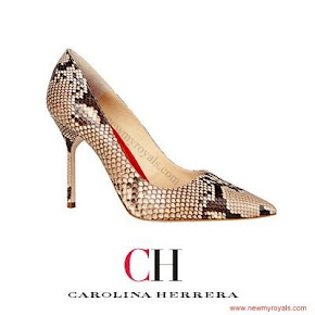 Queen Letizia Wore CAROLINA HERRERA Python Pumps