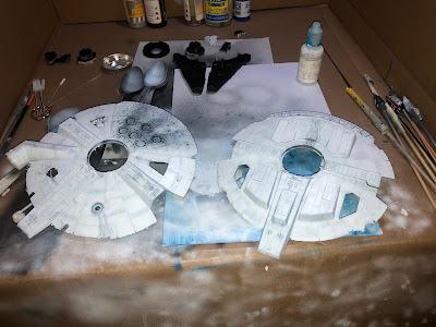 Bandai Millennium Falcon Saucer Pre-shading