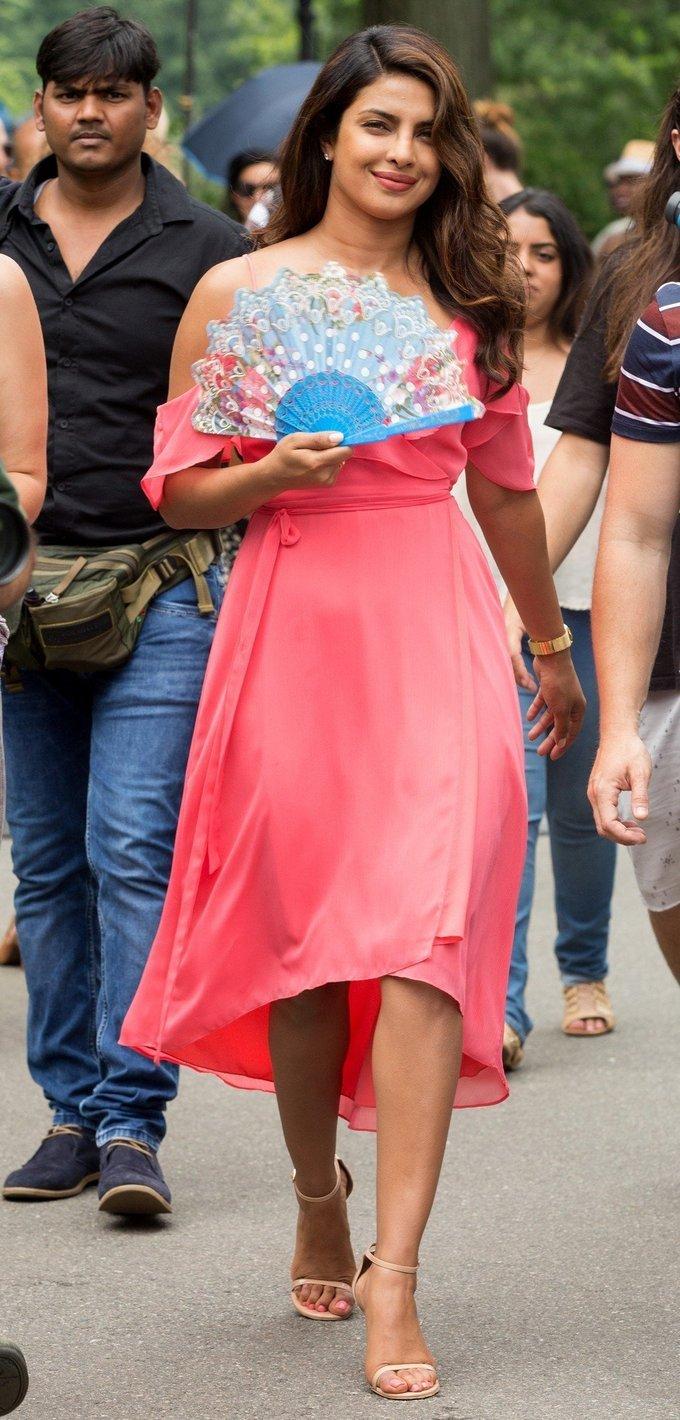 Priyanka Chopra On Set Isn't It Romantic Event Stills