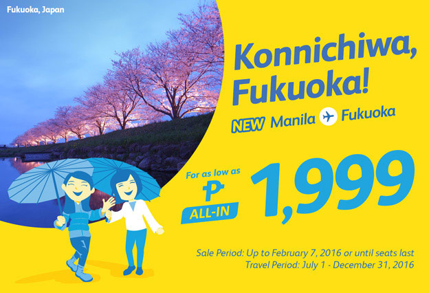Manila to Fukuoka Japan January Promo Seat Sale 2016