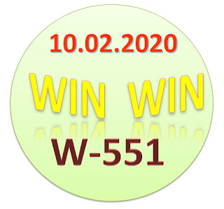Kerala Lottery Result Win Win W-551 dated 10.02.2020