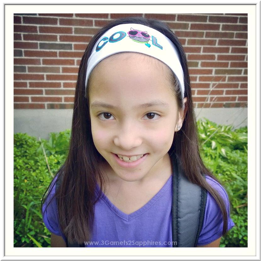3 Garnets   2 Sapphires  Logo Loops Headbands for School and Taekwondo 54e1dfb7439