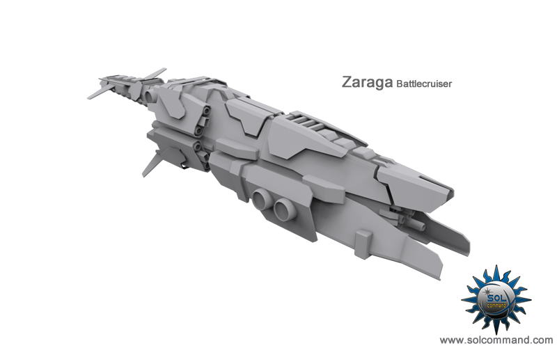 Zaraga Battlecruiser space ship battle combat cruiser heavy warship concept art solcommand 3d model Dominion game