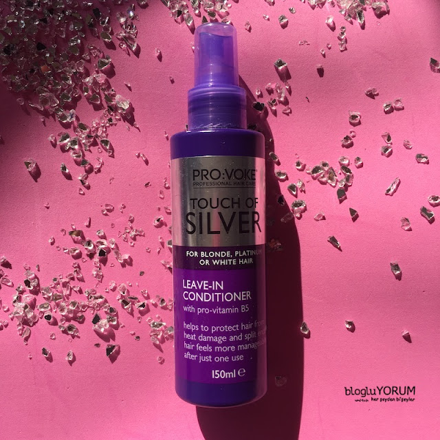 provoke touch of silver leave in conditioner durulanmayan sıvı saç bakım kremi