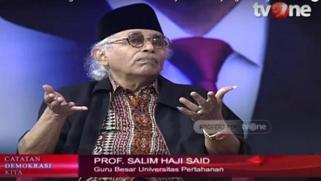 Salim Said: Perhitungkan Baik-baik dalam Menyelidiki Oknum Tentara