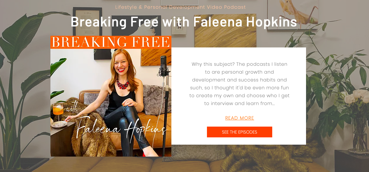 Breaking Free with Faleena Hopkins: New Personal Development