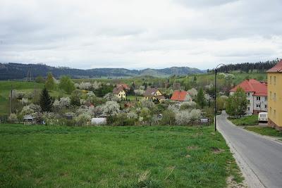 Boguszów-Gorce, widok z ulicy Górnej