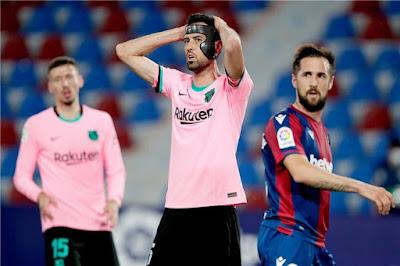 تصريح بوسكيتس بعد التعادل أمام ليفانتي: الليجا انتهت بالنسبة لبرشلونة