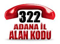 0322 Adana telefon alan kodu