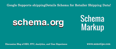 shippingDetails Schema for Retailer Shipping Data