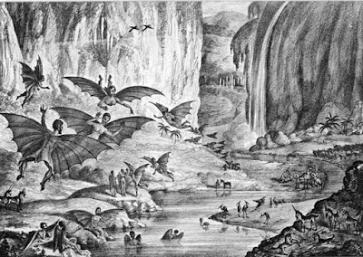 A lithograph of the hoax