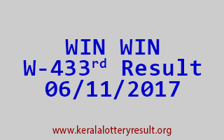 WIN WIN Lottery W 433 Results 6-11-2017