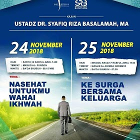 Download [Audio] Rekaman Safari Dakwah Ustadz Dr.Syafiq Riza Basalamah di Bangka Belitung [24 - 25 November 2018]