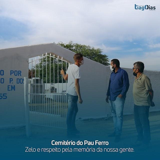 Jacobina:Cemitério do Pau Ferro sendo revitalizado