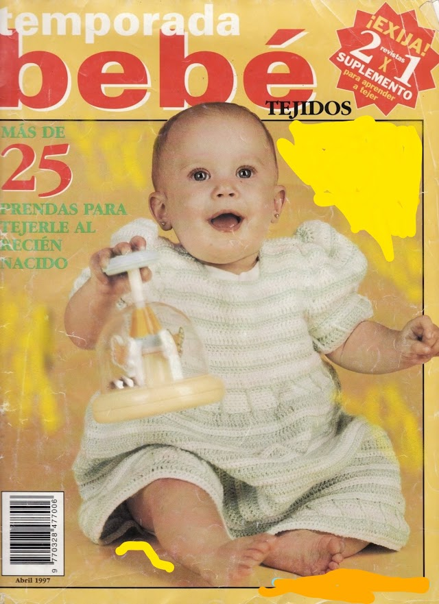 Revista Bebê Tejidos -Revista Tricô Bebê 1987