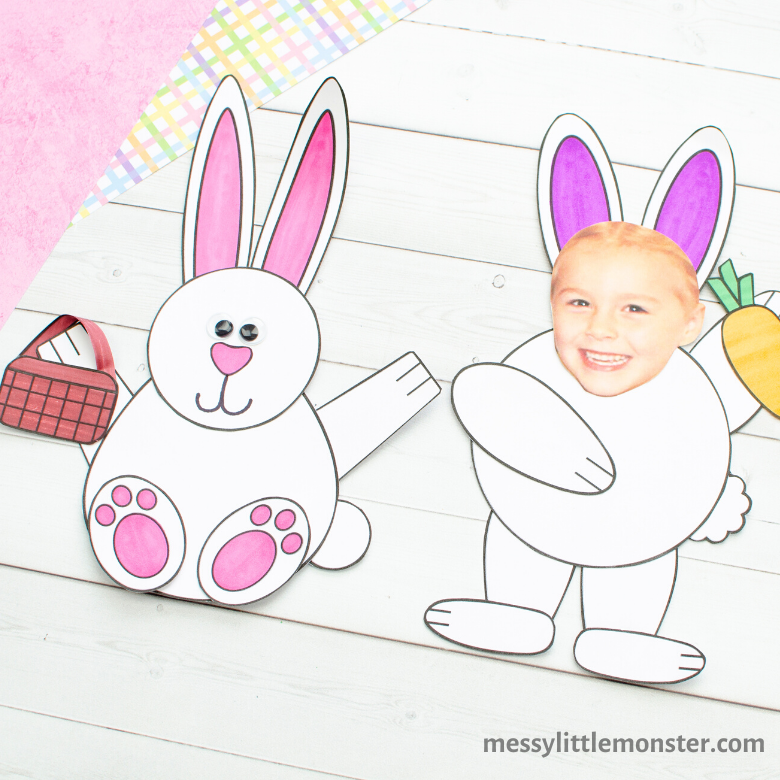 Easter bunny craft - Easter activities for toddlers and preschoolers