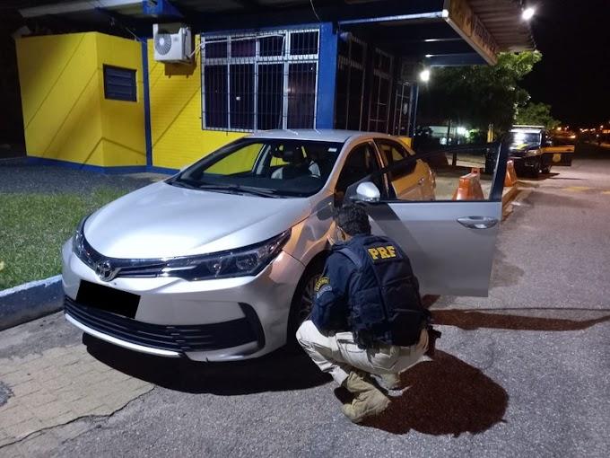 PRF recupera carro roubado em São Paulo que circulava clonado na cidade de Paulista/PB