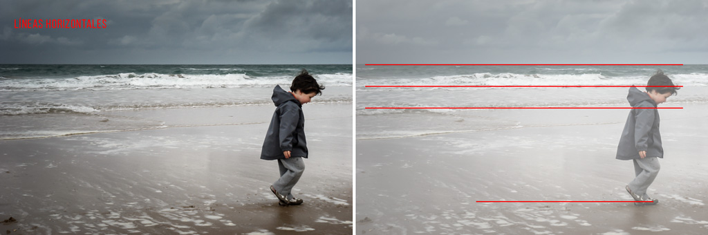 Resultado de imagen para lineas horizontales fotografica