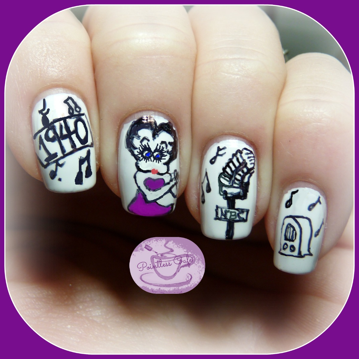 Betty Boop Nails: The Digit-al Dozen Does Decades: The 40s
