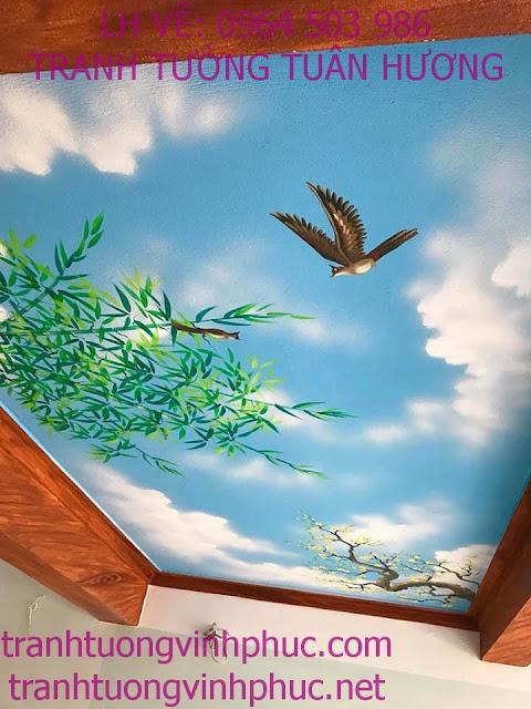 vẽ trần mây 3d tại vĩnh phượng bình xuyên vĩnh phúc7
