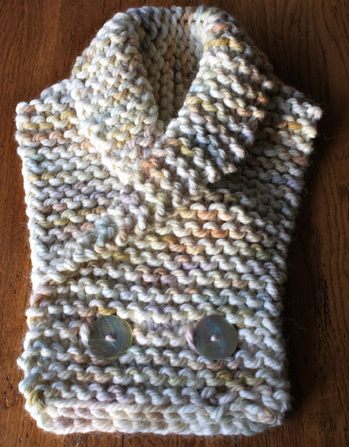 Warm & Cozy Collar Scarf with Buttons - Free Pattern
