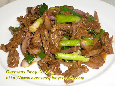 Pork with Spring Onion Stirfry