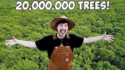 Youtuber asal Amerika memulai karir youtubenya pada tahun  √   Setelah Mencapai 20 Juta Subscriber, Youtuber MrBeast Berjanji Menanam 20 Juta Pohon di tahun 2020
