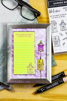 Learn how to make a super easy Desktop Memo Board with the Garden Birdhouses Stamp Set from Stampin' Up! Click here for details