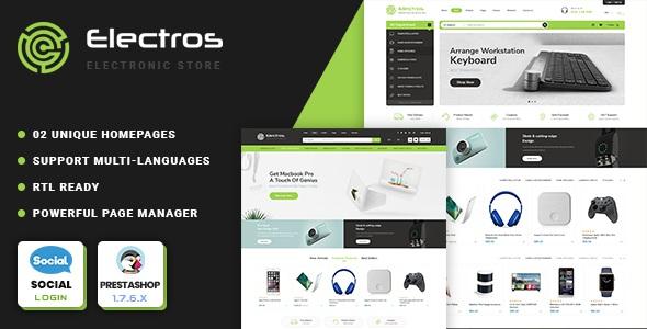 Tech store Prestashop Theme
