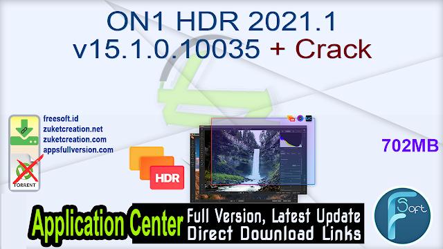 ON1 HDR 2021.1 v15.1.0.10035 + Crack
