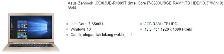 Harga Laptop Asus Core I7 Ram 8gb Terbaru