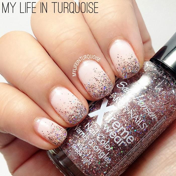 Nude-Glitter-Gradient-Nail-Art