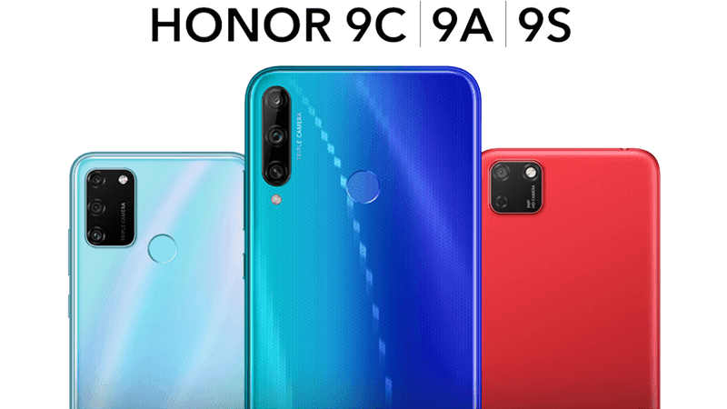 HONOR 9C, 9A, and 9S budget phones announced