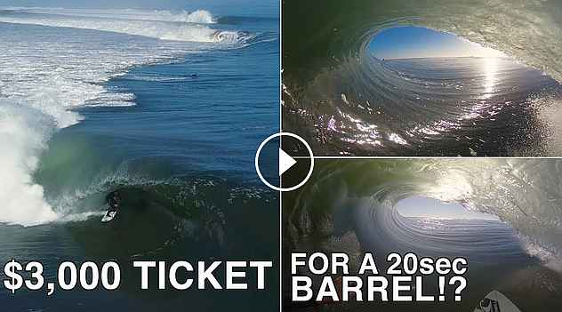 SCORING Skeleton Bay 3 000 TICKET for a 20sec BARREL