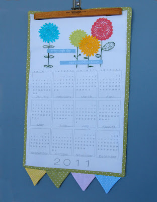DIY Fabric Calendar kits for embroidery