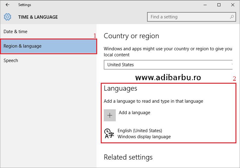 Cum adaugi o limbă nouă în Windows 10